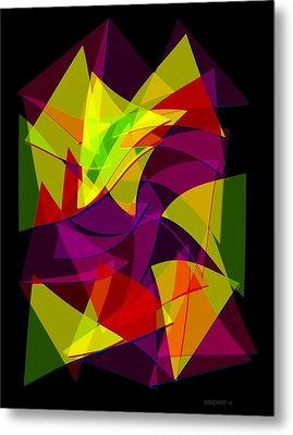 Colorful Triangles Geometric Art Designs Metal Print by Mario Perez