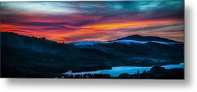 Colorful Twilight Panorama Metal Print