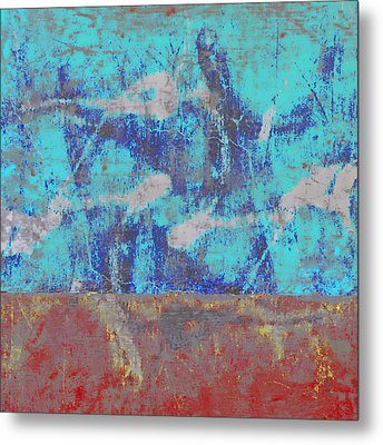 Colorful Walls Square Number 1 Metal Print by Carol Leigh