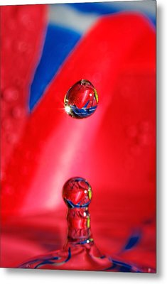 Metal Print featuring the photograph Colorful Water Drop by Peter Lakomy
