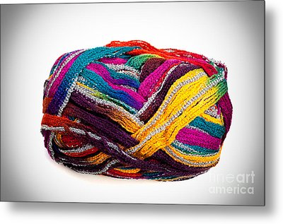 Colorful Yarn Metal Print