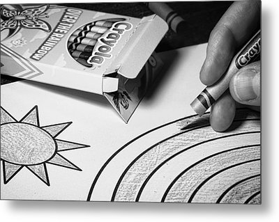 Coloring Without Color Metal Print