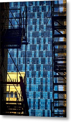 Colors And Architecture From The Alley Metal Print by Sven Brogren
