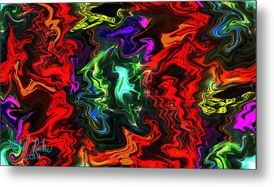 Colors In Motion Metal Print by Michael Rucker