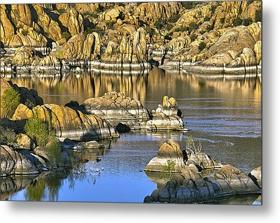 Metal Print featuring the photograph Colors In The Rocks At Watsons Lake Arizona by James Steele