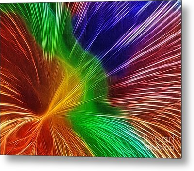 Colors Lines And Textures Metal Print by Kaye Menner