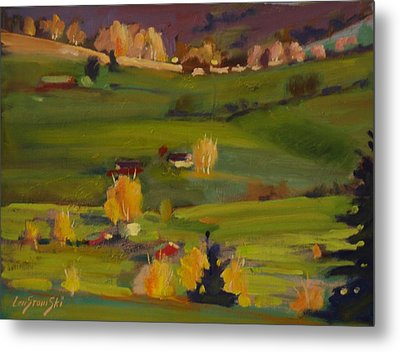 Metal Print featuring the painting Colors Of Autumn by Len Stomski