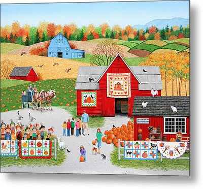 Colors Of Autumn Metal Print by Wilfrido Limvalencia