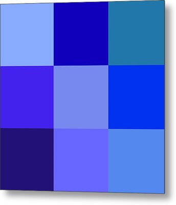 Colors Of Blue Metal Print