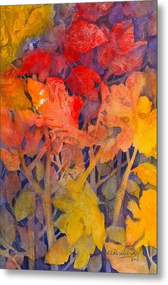 Colors Of Fall Metal Print by Cynthia Roudebush