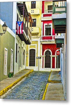 Colors Of Old San Juan Puerto Rico Metal Print by Carter Jones