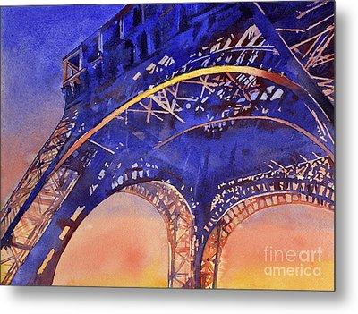 Colors Of Paris- Eiffel Tower Metal Print