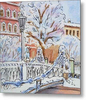 Colors Of Russia Winter In Saint Petersburg Metal Print