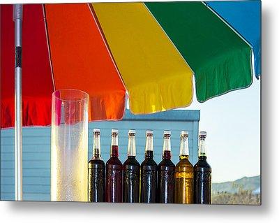 Colors Of Santa Monica Beach Metal Print by Ben and Raisa Gertsberg