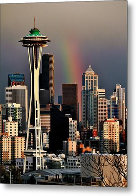 Colors Of Seattle Metal Print by Benjamin Yeager