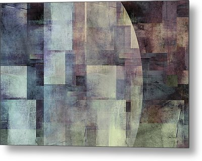 Colors Of Twilight Abstract Art Metal Print by Ann Powell