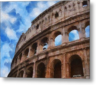 Colosseo Metal Print by Jeff Kolker