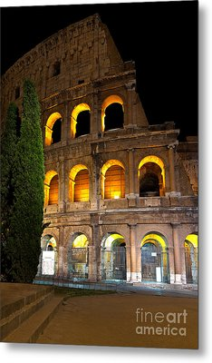 Metal Print featuring the photograph Colosseum by Francesco Emanuele Carucci