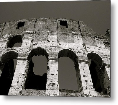 Colosseum Metal Print by Kathy Ponce