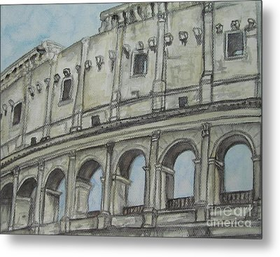 Colosseum Rome Italy Metal Print by Malinda  Prudhomme