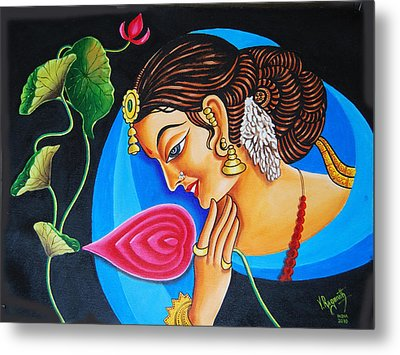 Metal Print featuring the painting Colour And Creativity by Ragunath Venkatraman