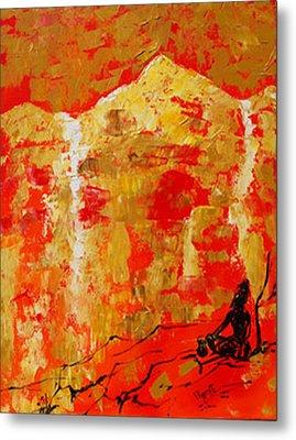 Metal Print featuring the painting Colour Of Calm by Ragunath Venkatraman