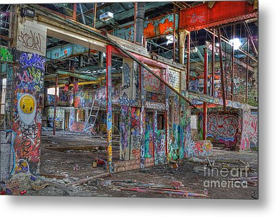 Coloured Dereliction Metal Print by David Birchall