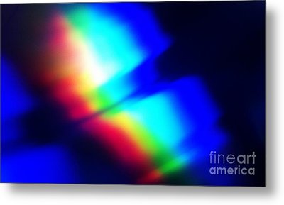 Coloured Light Metal Print by Martin Howard
