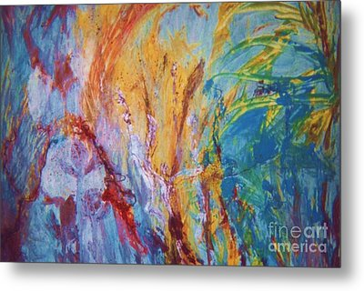 Colourful Abstract Metal Print by Ann Fellows