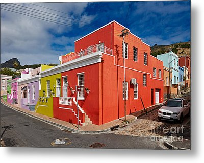 colourful buildings in Bo-Kaap Metal Print by Juergen Ritterbach