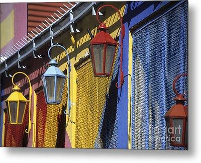 Colourful Lamps La Boca Buenos Aires Metal Print by James Brunker