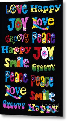 Colourful Words Metal Print by Tim Gainey