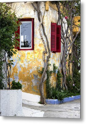 Colourfull Cottage Metal Print