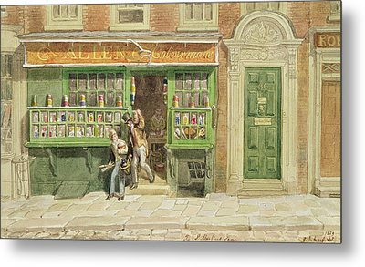 Colourmans Shop, St Martins Lane, 1829 Wc On Paper Metal Print by George the Elder Scharf
