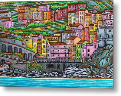 Colours Of Manarola Metal Print by Lisa  Lorenz