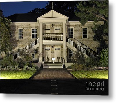Colton Hall At Night Metal Print by James B Toy