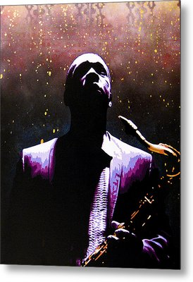 Coltrane II - Coltrane Harder Metal Print by Bobby Zeik