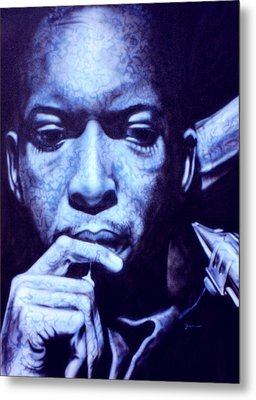 Coltrane Metal Print by Mike Underwood