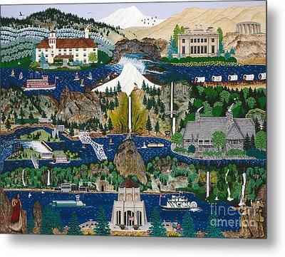 Columbia River Gorge Metal Print by Jennifer Lake