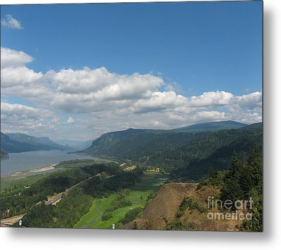 Columbia River Gorge Metal Print by Marlene Rose Besso