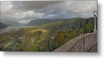 Metal Print featuring the photograph Columbia River Gorge View From Crown Point by JPLDesigns