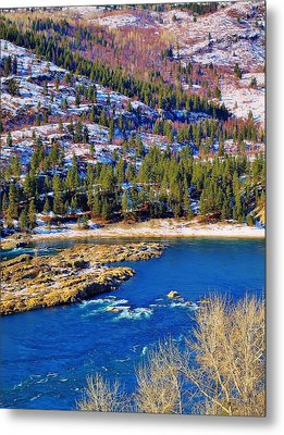 Columbia River Rapids Metal Print