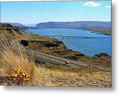 Columbia River Vantage Point Metal Print