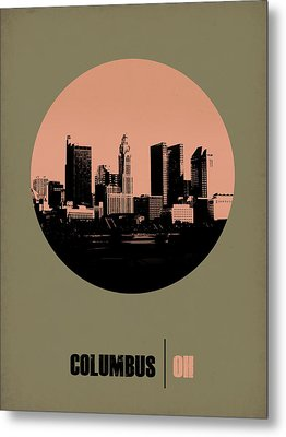 Columbus Circle Poster 1 Metal Print by Naxart Studio