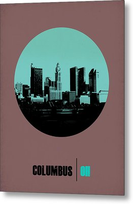 Columbus Circle Poster 2 Metal Print by Naxart Studio