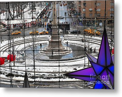 Columbus Circle View Metal Print by Andrea Simon