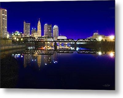 Columbus - City Reflection Metal Print by Shane Psaltis
