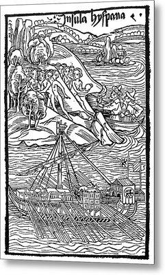 Columbus Hispaniola, 1492 Metal Print by Granger