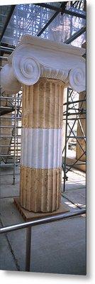 Column In The Acropolis, Athens, Greece Metal Print