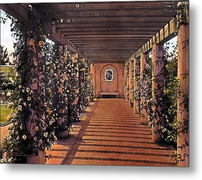 Columns And Flowers 2 Metal Print by Terry Reynoldson